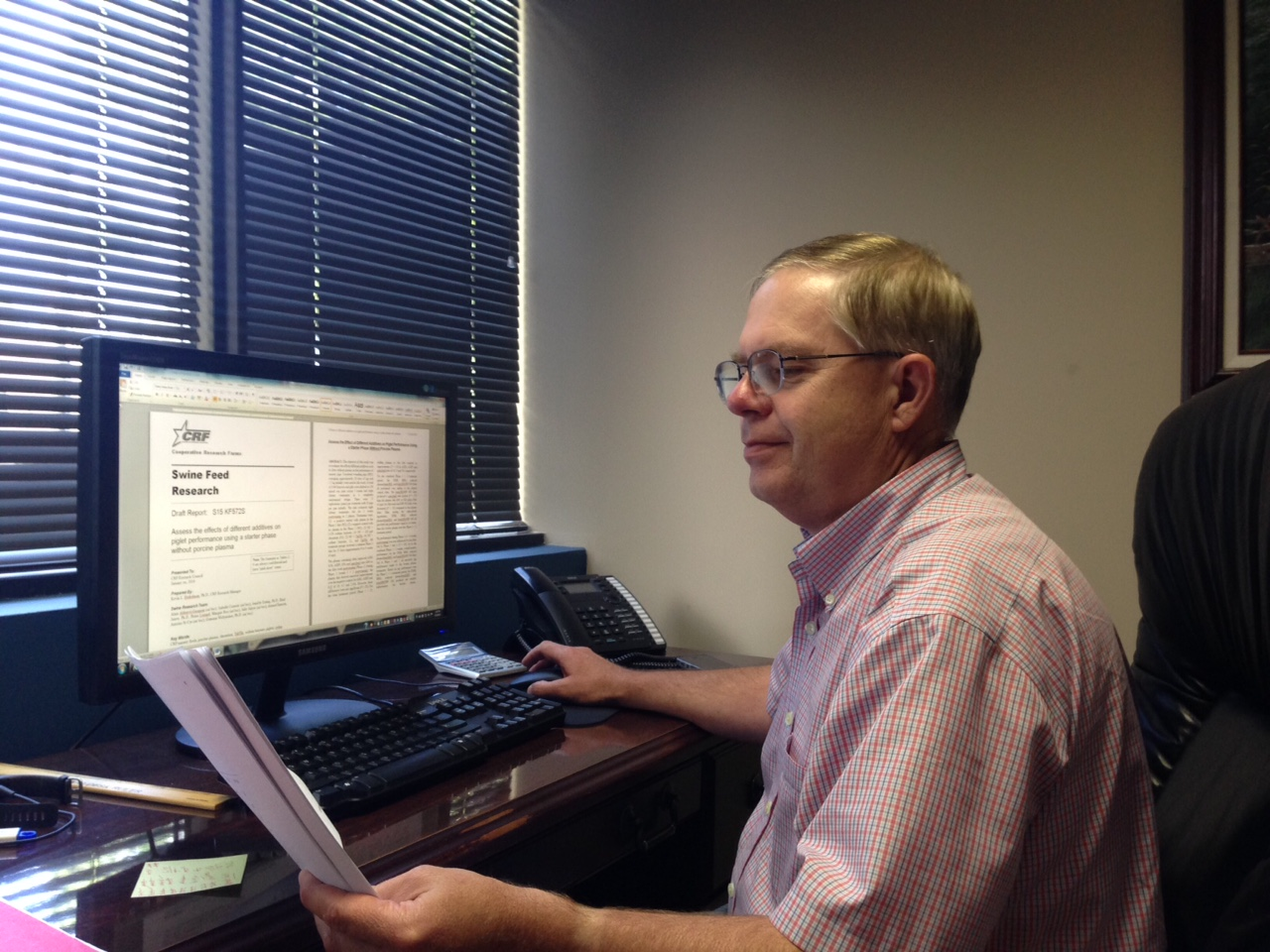 Dr. Kevin Herkelman - CRF Swine Research Manager